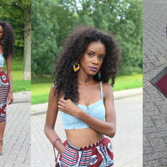 A fabulous way to wear an African Trouser
