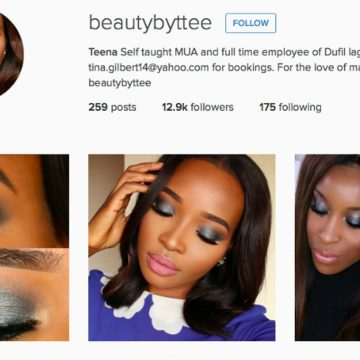 Vijf Brown Beauties op Instragram